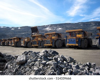 mine quarry with truck