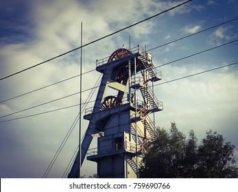 Mine shaft in Katowice.