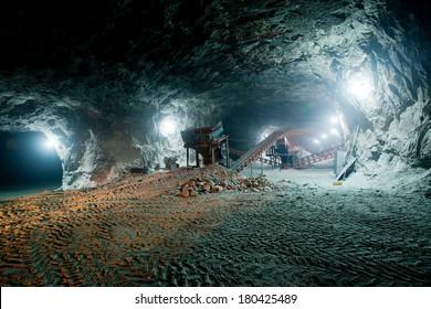 Mine work underground