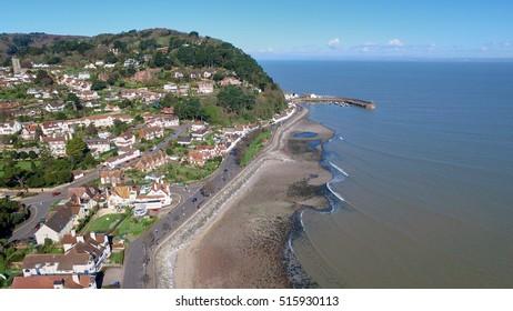 Minehead Aerial Shot of Coast