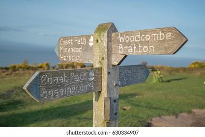 Minehead Coast Path Sign