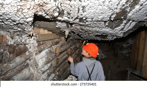 Miner in salt mine Wieliczka.