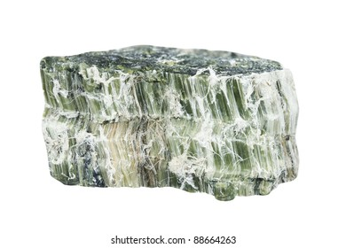 Mineral asbestos sample on white background