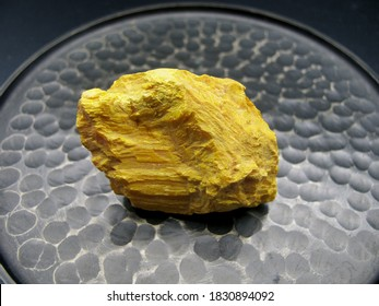 mineral class, sulphides of orpiment. Yellow sulfide of arsenic.