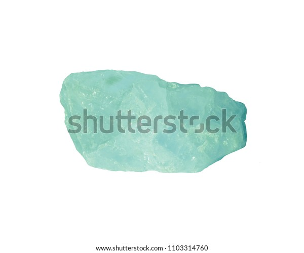mineral crystal with rough edges. isolated crystal