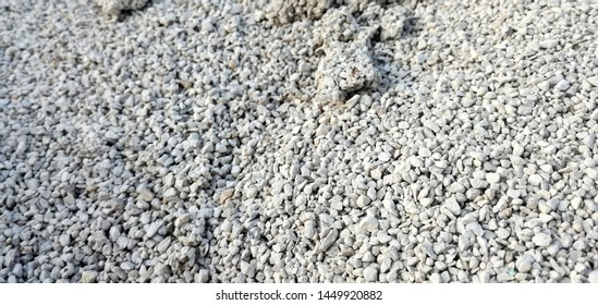 Mineral fertilizer of cereal in the agricultural industry. Nitrogen, phosphorus and potassium to strengthen the grain. Manure balls. Industrial quantity of nutrient for agriculture.