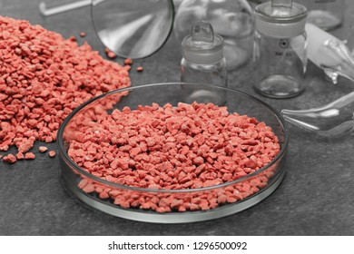 Mineral fertilizer with phosphorus in red