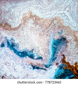 Mineral layers like blue coffe and milk mixed, abstract background illustration