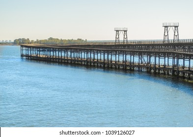 The mineral loading dock of company Rio Tinto from Huelva, Andalusia, Spain