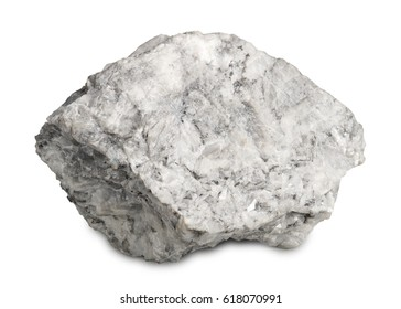 Mineral  magnesite isolated on white background. Magnesite are burnt to make magnesium oxide and used in jewelry-making,  in flooring material and as catalyst.