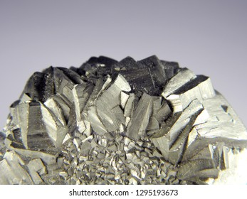 Mineral pyrite, or iron pyrite, is also known as the fool's gold. close up