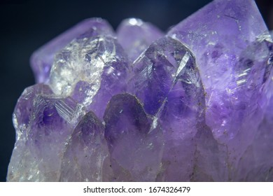 Mineral rock surface background, flat light, natural amethyst pattern