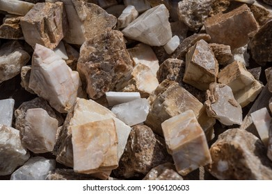 Mineral stones: granite, marble and other