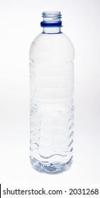 mineral water bottle - open