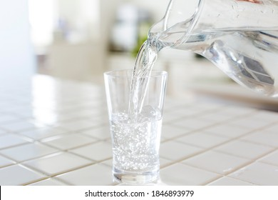 Mineral water, kitchen background material