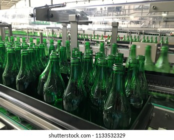 mineral water processing in factory