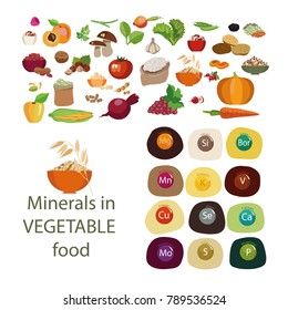 Minerals in plant foods. Minerals and organic plant products. Healthy Eating