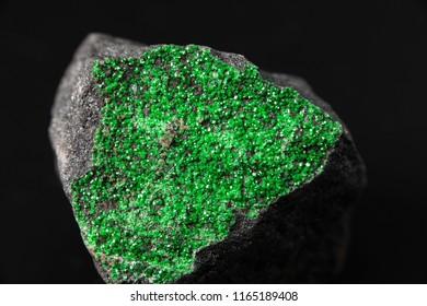 Minerals of Siberia, Russia. Uvarovite.