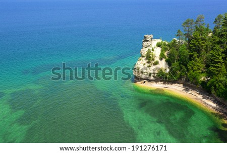 Miners Castle Pictured Rocks National Park waterscape view