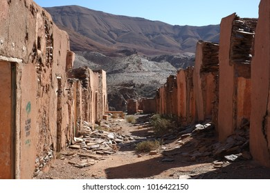 Miners town Ahouli near Midelt Morocco- City of Lead mines