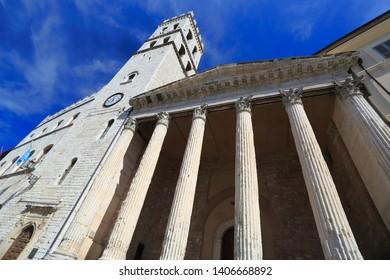 Minerva temple in Assisi, Umbria