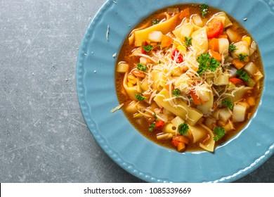 Minestrone traditional italian soup