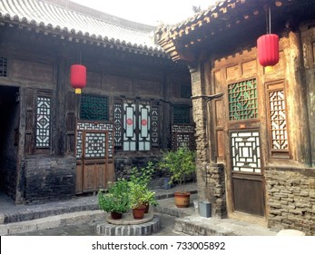 Ming dynasty buildings in Pingyao, city where the first bank in China was opened.
