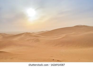 Mingsha Mountain Desert Scenery Dunhuang Gansu