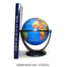 Mini Atlas and Globe
