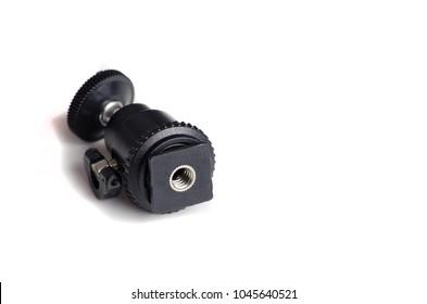 Mini Ball Head Hot Shoe. Flash Bracket Mount Screw For Camera Tripod