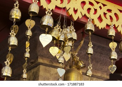 Mini bell of the temple, Wat  Phra That Doi Suthep, Chaing Mai province, north of Thailand