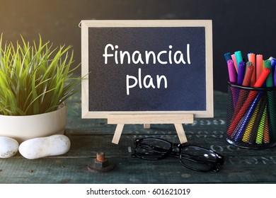 Mini Blackboard Concept Writing : FINANCIAL PLAN