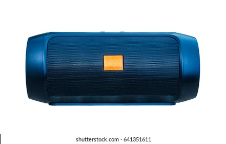 mini bluetooth loudspeaker isolated on over white background