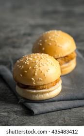 Mini burgers , junk food