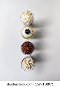 mini cakes of different flavors, with chocolate