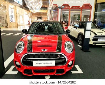 MINI COOPER S, MINI 5-DOOR HATCH WHICH IS A NEW MODEL THAT IS DISPLAYED AT THE DEPARTMENT STORE. - BANGKOK, THAILAND, ASIA. AUGUST 6,2019.