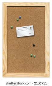 Mini Corkboard with appointment card.