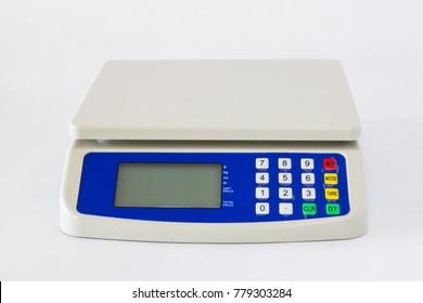 Mini Digital scale on white isolate background