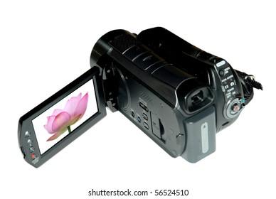 Mini Digital Video Camera Isolated In White