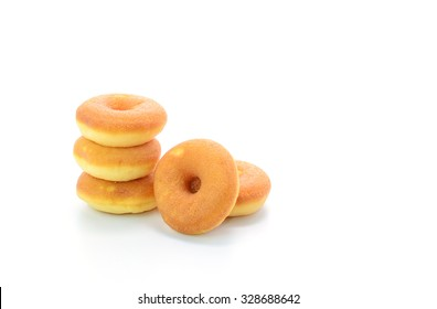 Mini donuts isolated on white background