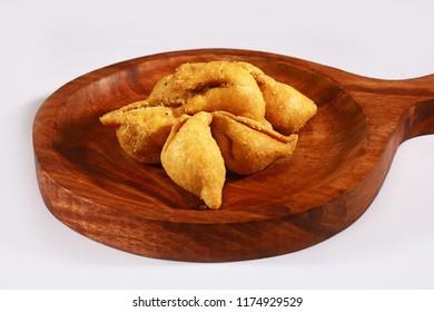 Mini Dry Samosa, Indian Fried namkeen Snack
