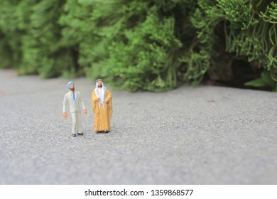a mini of figure of foreigner on the meeting