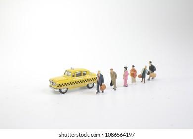 a  mini figure wait the new york taxi