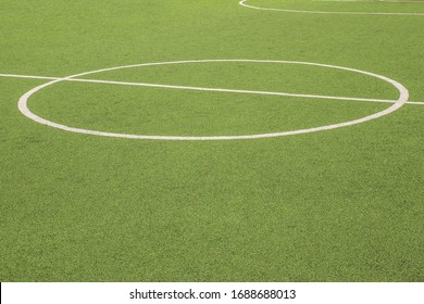 mini football, Artificial turf field outdoor soccer with markup