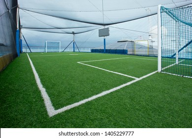 Mini football field with net