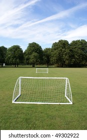 Mini football goal in Jesus College Cambridge University