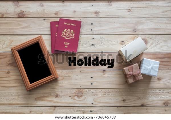 Mini Gift Box Photo Frame Malaysian Stock Photo Edit Now 706845739