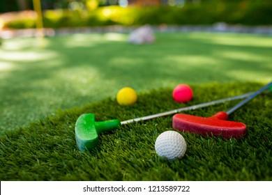 Mini golf close-up