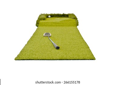 mini golf on the white isolated background