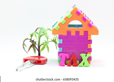Mini Home with word TAX